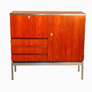 Mueble de almacenamiento de cromo y palisandro, 1970