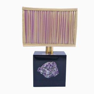 Lampe Violette en Résine avec Motif Améthyste, 1970s
