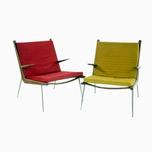 Model FD135 Boomerang Armchairs by Peter Hvidt and Orla Molgaard Nielsen for France Daverkosen, 1960s