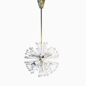Lámpara de araña vintage con forma de bola de nieve de Emil Stejnar