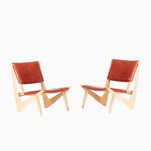 Presens Lounge Stühle von Bertil W. Behrman für AB Engens Fabriker, 1950er, 2er Set