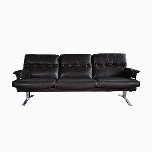 Vintage 3-Sitzer Sofa aus Leder & Chrom von Arne Norell für Vatne Møbler
