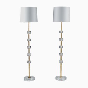 Floor Lamps by Carl Fagerlund for Orrefors, 1960s, Set of 2