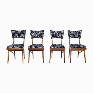 Mahogany Chairs, 1950s, Set of 4