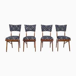 Stühle aus Mahagoni, 1950er, 4er Set