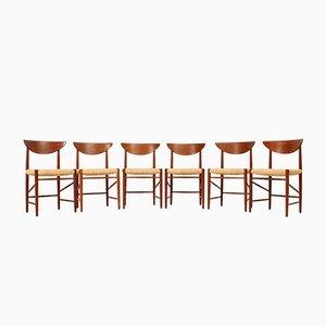 Chaises de Salon par Peter Hvidt et Orla Mølgaard-Nielsen pour Søborg Møbelfabrik, 1950s, Set de 6