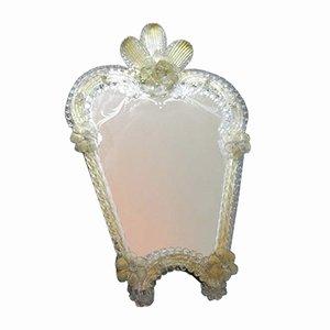 Espejo de pie italiano de cristal de Murano, años 50