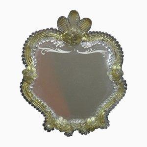 Espejo independiente de cristal de Murano, años 50