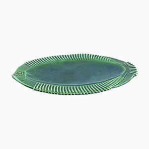 Piatto a forma di pesce in ceramica, Francia, anni '50