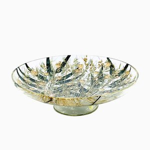Vintage Plexiglass Bowl with Wheat Inclusions, 1970s