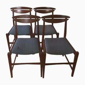 Vintage Italian Chairs, 1950s, Set of 4