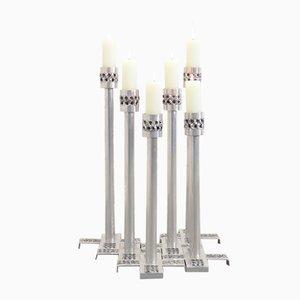 Brutalistische Aluminium Kerzenständer von Luyckx W. für Aluclair, 1970er, 6er Set