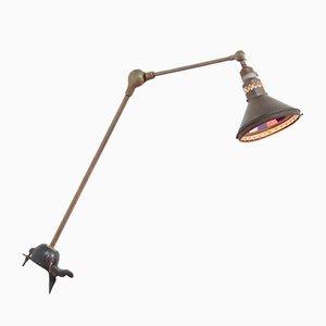 Lámpara de escritorio industrial hecha a mano, años 20