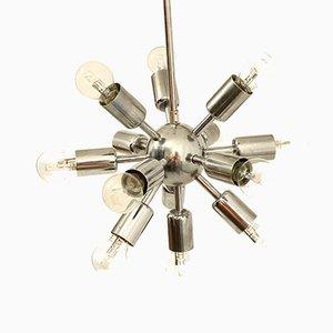 Mid-Century Chrom Sputnik Deckenlampe von Drupol