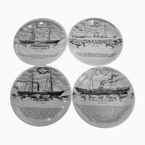 Vintage Wall Plates by Fornasetti, Set of 4