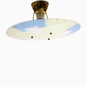 Lámpara de techo vintage con dibujo de carta de ajuste, años 60