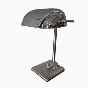 Lámpara de mesa vintage de metal cromado