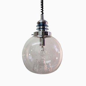 Lampada a sospenisone Mid-Century in vetro di Toni Zuccheri, Italia