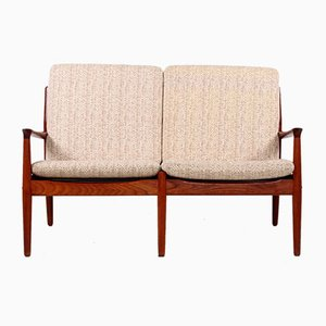 Light Wool Sofa by Grete Jalk for Glostrup, 1960s