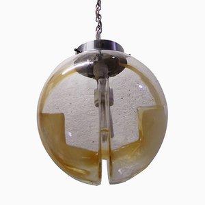 Hängelampe aus Rauchglas von Toni Zuccheri für Venini, 1970er