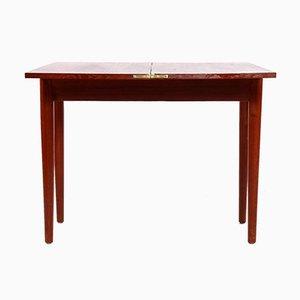 Dänischer Teak Spieltisch mit Faltbarer Tischplatte
