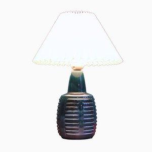 Lampe de Bureau en Céramique Bleue par Einar Johansen pour Soholm, Danemark, 1960s