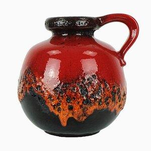 Vase Fat Lava Rouge-Noir de Scheurich, 1960s