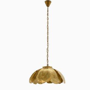 Lámpara de techo escandinava de latón de Svend Aage Holm Soresen, años 70