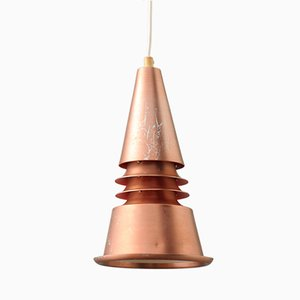 Vintage Conical Lamp in Copper