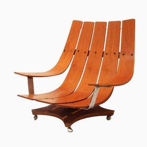 Sillón modelo G Plan de teca de Ib Kofod Larsen, años 70