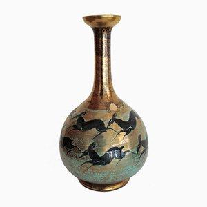 Vaso in porcellana di Jean Mayodon per Nationale de Sèvres, anni '50