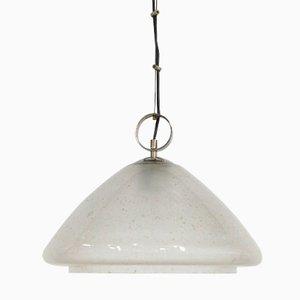 Lampada a sospensione vintage in vetro a bolle, anni '70