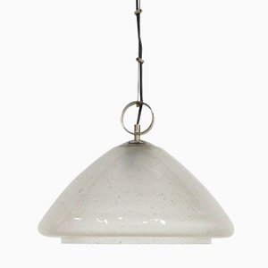 Vintage Bubbled Glass Pendant Light, 1970s