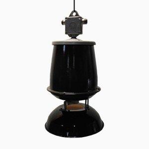 Vintage Industrial Enameled Pendant Lamp