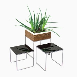 Vintage Nesting Tables with Planter