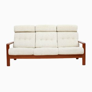 Danish Teak 3-Seater Sofa with Wool Upholstery, 1960s