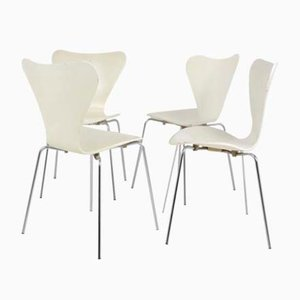Series 7 Dining Chairs by Arne Jacobsen for Fritz Hansen, 1988, Set of 4