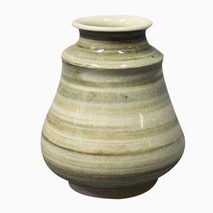 Jarrón de cerámica verde de Claus Ivansson para Höganäs, años 60
