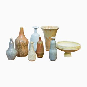 Mid-Century Collection of Miniature Vases by Gunnar Nylund