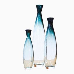 Vases Tona par Bengt Orup pour Johnasfors Glasbruk, 1950s, Set de 3