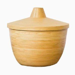Caja japonesa de bambú y fresno, años 50