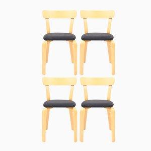 Chaises Vintage Modèle 69 par Alvar Aalto pour Artek, Set de 4