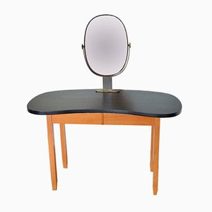 Table de Coiffeuse Vintage en Forme de Haricot, 1950s