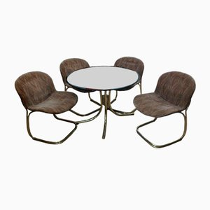 Mesa y sillas de Gastone Rinaldi para Rima, años 70