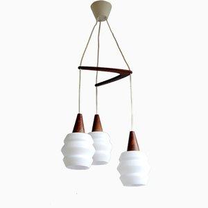 Skandinavische Boomerang Deckenlampe, 1960er