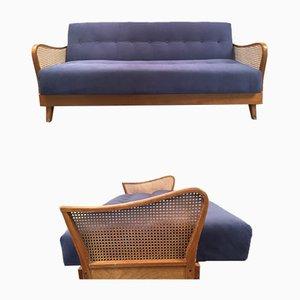 Sofá cama de terciopelo Lilac Varese , años 50
