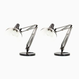 Industrial Dutch Desk Lights from Hala, 1967, Set of 2