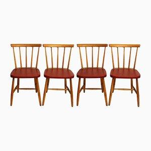 Vintage Esszimmerstühle, 1960er, 4er Set
