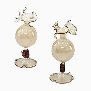 Murano Art Glass Vases, 1970s, Set of 2