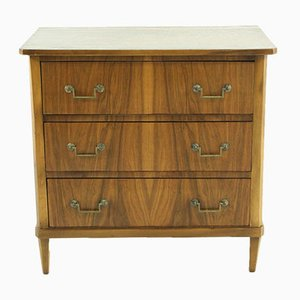 Vintage Small Walnut Veneered Commode